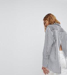 Oversize-рубашка с принтом и разрезом на спине Reclaimed Vintage Inspired - Черный