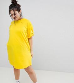 Платье-футболка ASOS CURVE - Желтый