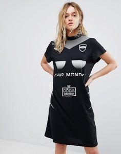 Платье в спортивном стиле с логотипом Cheap Monday - Черный
