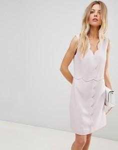 Платье с фигурным краем Ted Baker - Розовый