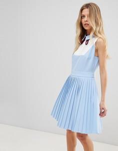 Платье с плиссировкой Ted Baker - Синий