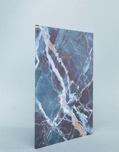 Синий блокнот с мраморным принтом формата A4 Ohh Deer - Мульти