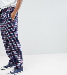 Спортивные брюки в клетку Reclaimed Vintage - Темно-синий
