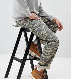 Камуфляжные брюки-карго цвета хаки Reclaimed Vintage Revived - Зеленый