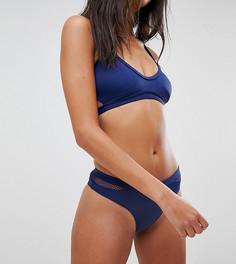 Темно-синие плавки бикини с сетчатыми вставками Free Society - Темно-синий
