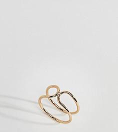 Кольцо с двойным дизайном ASOS CURVE - Золотой