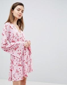 Приталенное платье мини с запахом Ivyrevel - Мульти