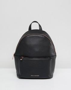 Кожаный мягкий рюкзак Ted Baker - Черный