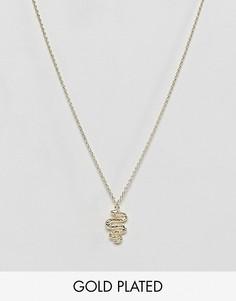 Ожерелье с подвеской-змеей Orelia - Золотой