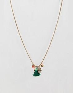 Ожерелье с подвесками Orelia Medina - Золотой