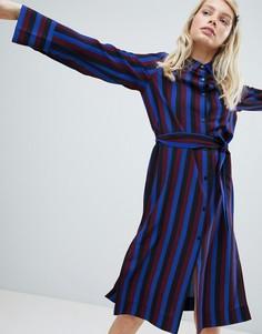 Платье-рубашка в полоску Monki - Мульти