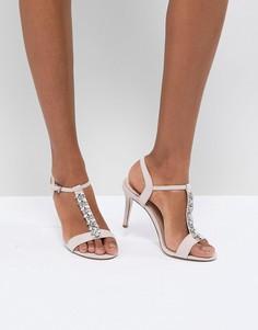 Декорированные туфли на каблуке Coast - Розовый