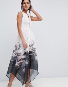 Платье макси с цветочным принтом на юбке Coast - Мульти