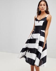 Короткое приталенное платье с цветочным принтом Coast - Мульти