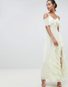Платье макси с оборками Coast Illy - Желтый