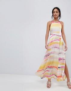 Платье макси с принтом Coast Galesa - Мульти
