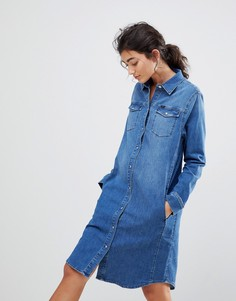 Джинсовое платье в стиле вестерн Lee - Синий