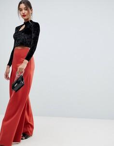 Плиссированные широкие брюки Missguided - Красный