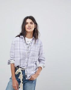 Рубашка в клетку Abercrombie & Fitch - Фиолетовый