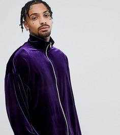 Фиолетовая бархатная спортивная куртка Reclaimed Vintage Inspired - Фиолетовый