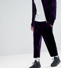 Фиолетовые бархатные брюки свободного кроя Reclaimed Vintage Inspired - Фиолетовый