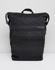 Большой рюкзак с логотипом Calvin Klein - Черный