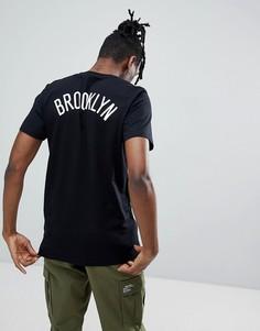 Черная футболка с принтом New Era NBA Brooklyn Nets - Черный