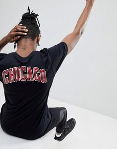 Черная футболка с принтом на спине New Era NBA Chicago Bulls - Черный
