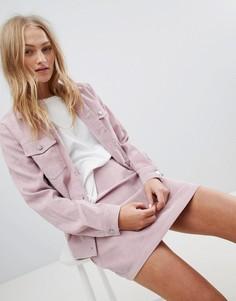 Винтажная вельветовая куртка Daisy Street Trucker - Розовый