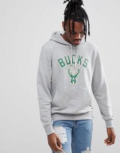 Худи серого цвета New Era NBA Milwaukee Bucks - Серый
