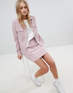 Винтажная вельветовая мини-юбка Daisy Street - Розовый