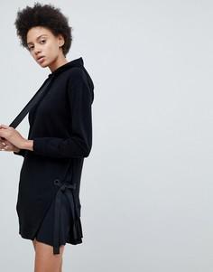 Платье-худи с логотипом и затягивающимся шнурком Iceberg - Черный