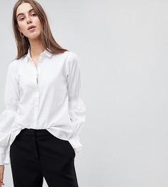 Рубашка с отделкой на рукавах Y.A.S Tall - Белый
