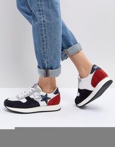 Кроссовки в стиле колор блок со звездами Tommy Jeans - Синий