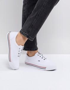Кеды с полосками на подошве Tommy Jeans - Белый