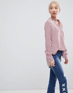 Рубашка в полоску New Look - Красный