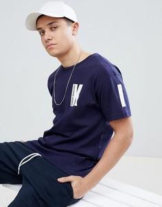 Темно-синяя футболка Kidda By Christopher Shannon K - Темно-синий