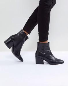 Черные кожаные ботильоны Vagabond Olivia - Черный