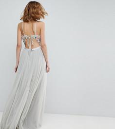 Платье макси на бретелях с открытой спиной Needle & Thread - Синий