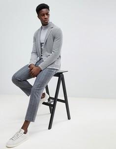 Трикотажный блейзер Selected Homme - Серый