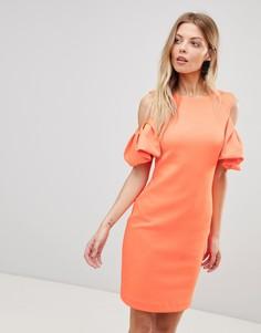 Платье с вырезом на плечах Ted Baker - Оранжевый
