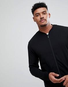 Черная куртка на молнии Calvin Klein - Черный