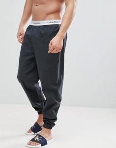 Хлопковые джоггеры с манжетами Calvin Klein - Серый