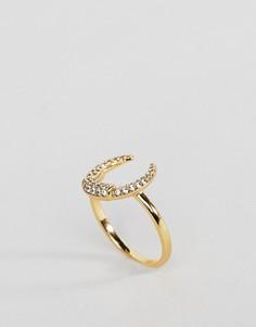 Кольцо с полумесяцем Orelia - Золотой