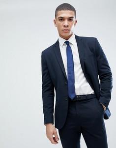Зауженный пиджак Jack & Jones Premium - Темно-синий