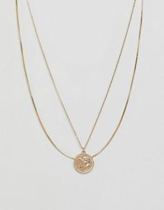 Ожерелье из двух цепочек Monki - Золотой