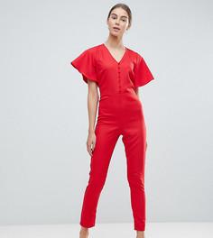 Комбинезон с рукавами клеш New Look Tall - Красный