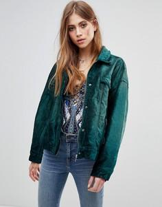 Куртка с бархатной отделкой Free People - Синий