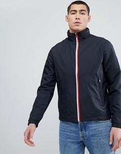 Черная куртка на молнии с убирающимся капюшоном Tommy Hilfiger - Черный