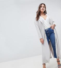 Длинное пальто Missguided Plus - Серый